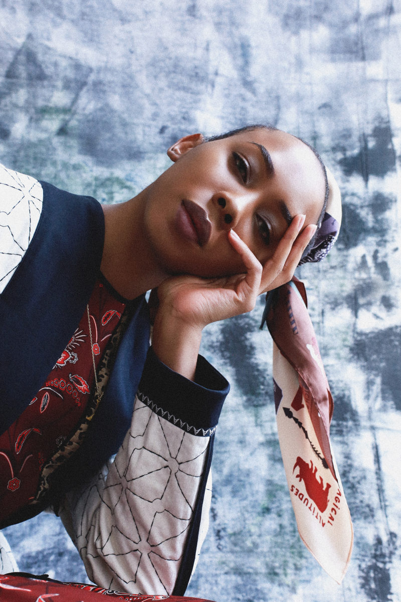 Outlander by Evelina Fietisova Brisbane Fashion photographer Evelina Photography Transgender female model Scotch & Soda Amsterdam 2019 Collection Sydney Exhibition